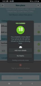 Adding more information on to Waze app for your GMB