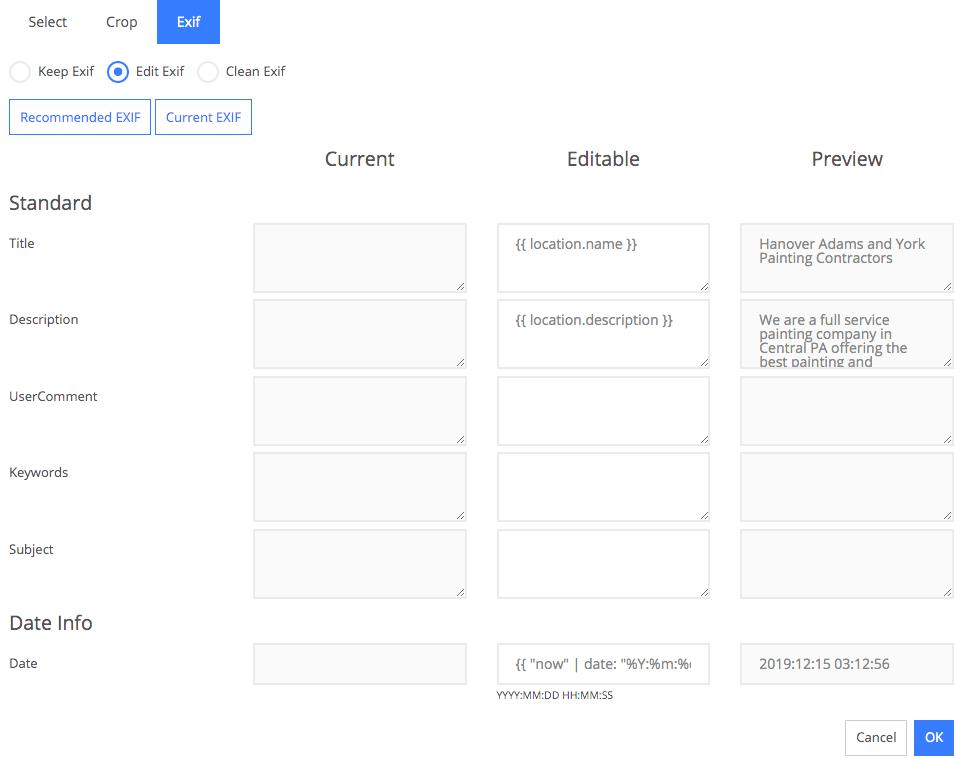 Adding EXIF data to your photos