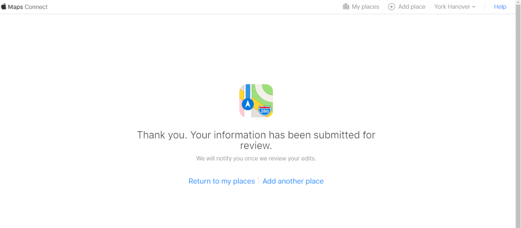 Submitting your apple maps information
