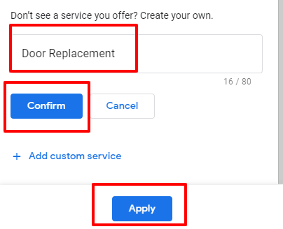 Adding GMB service that doesn't exist
