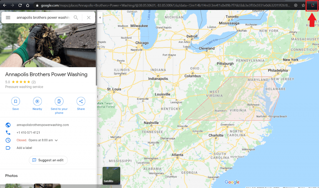 find your business listing in the maps section