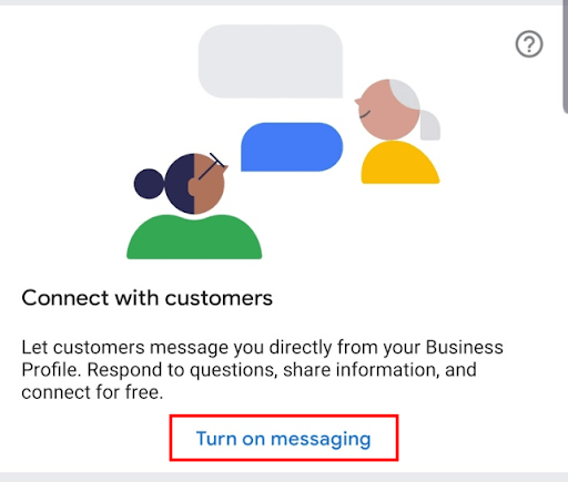 Turning on messaging for your GMB