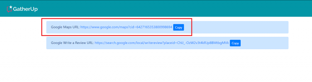 Use GatherUp to locate the map URL and CID