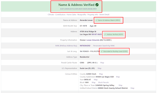 Verifying Your Address With Melissa data