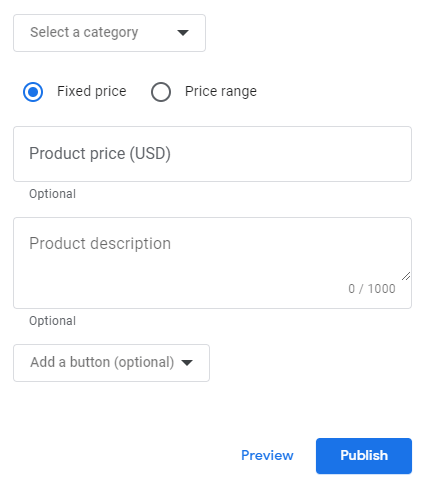 Product post type with CTA button
